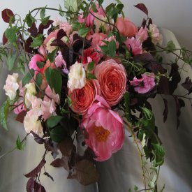 Compote flower arrangemet